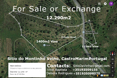 Land Plot 12.290m2 with Vines in Algarve...
